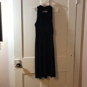 Sleeveless black stretchy dress